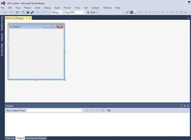 अब आपके सामने Form1.cs [Design] है जिसमे आपको button design करने है यानि की यह desine editor है