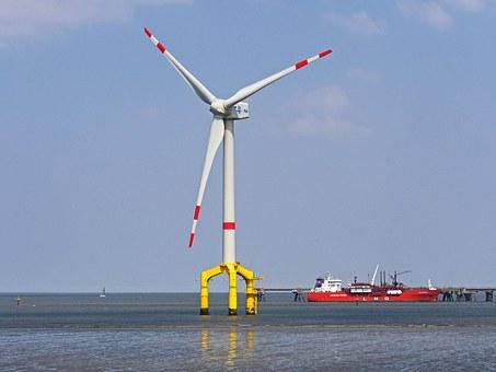 urbine का सबसे simple नमूना wind turbine है जिसे हम पवन चक्की कहते है इसमें direct atmosphere air turbine को rotate करती है