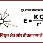 विद्युत क्षेत्र की तीव्रता क्या है?इसका मात्रक ,विमीय सूत्र