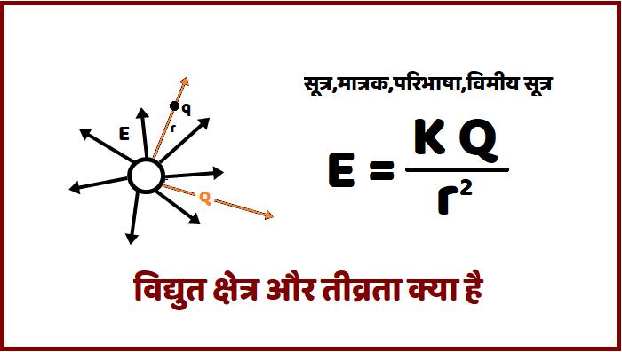 विद्युत क्षेत्र क्या है और इसकी तीव्रता सूत्र मात्रक