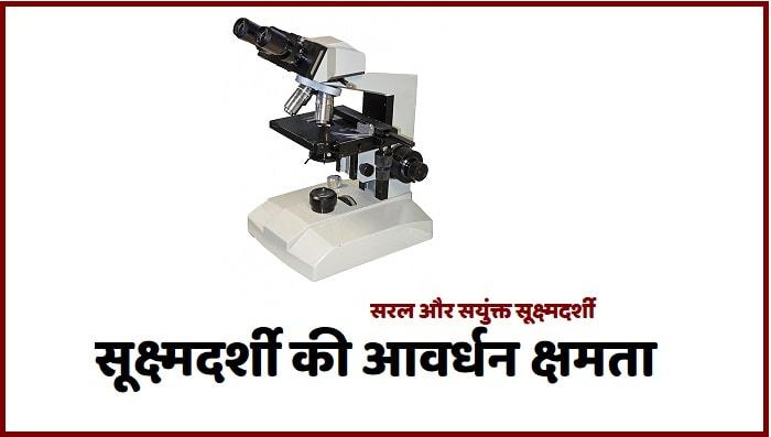 सूक्ष्मदर्शी की आवर्धन क्षमता