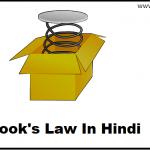 हुक का नियम-Hook's Law In Hindi
