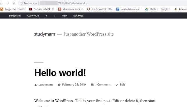 आपकी वेबसाइट बन गई है