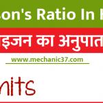 Poisson's Ratio In Hindi | पाइजन अनुपात क्या है